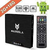 Smart TV BOX Android 7.1 - Maxesla MAX-S II Mini TV Box de 2GB RAM + 16GB ROM, 2018...