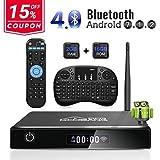 Android TV Box, GooBang Doo XB-III Smart TV Box con Mini Teclado Inalámbrico...