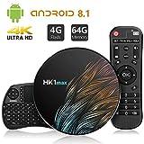 Android 8.1 TV Box【4G+64G】con Mini Teclado inalámbirco con touchpad RK3328...