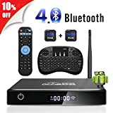 Android TV Box, GooBang Doo XB-III Smart TV Box con Mini Teclado Inalámbrico...