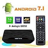 TV Box Android 7.1 - VIDEN W1 Smart TV Box Amlogic Quad Core, 1GB RAM & 8GB ROM,...