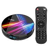Última 9.0 TV Box 【4GB RAM+32GB ROM】 Bqeel Android TV Box RK3318 Quad-Core 64bit...