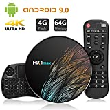 Android 9.0 TV Box【4G+64G】con Mini Teclado inalámbirco con touchpad RK3328...