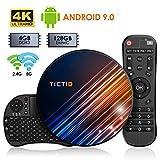 Android 9.0 TV Box 【4G+128G】con Mini Teclado inalámbirco RK3318 Quad-Core 64bit...
