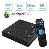 Android TV Box,T95 MAX Android 9.0 TV Box 2GB RAM/16GB ROM H6 Quad-Core Soporte...