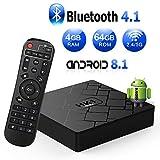 Android 8.1 TV Box, Android Box 4 GB RAM 64 GB ROM, Livebox HK1 MAX RK3328 Quad Core...