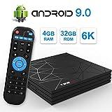 Android TV Box,T95 MAX Android 9.0 TV Box 4GB RAM/32GB ROM H6 Quad-Core Soporte...