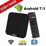 TV Box Android 7.1 - VIDEN W2 Smart TV Box Amlogic Quad Core, 2GB RAM & 16GB ROM,...