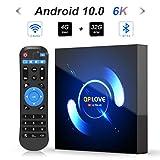 Android TV Box, QPLOVE Q6 Android 10.0 TV Box 4GB RAM 32GB ROM H616 Quad-Core CPU...