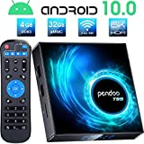 Pendoo Android 10.0 TV Box, T95 Android TV Box 4GB RAM 32GB ROM Allwinner H616...