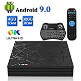 Android TV Box,T95 MAX Android 9.0 TV Box 4GB RAM/32GB ROM Quad-Core Soporte 2.4Ghz...