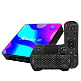 Android TV Box 10, 4GB RAM 32GB ROM Android 10 Compatible con 4K 3D, RK3318 Dual-WiFi...