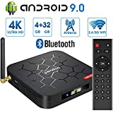 Android 9.0 TV Box 【4GB RAM+32GB ROM】 Android TV Box, Dual-WiFi 2.4GHz / 5GHz H6...
