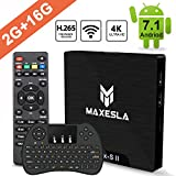 Smart TV BOX Android 7.1 - Maxesla MAX-S II Mini TV Box de 2GB RAM + 16GB ROM, 2018...
