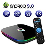 Android TV Box 9.0, 2019 El más Nuevo Android Box 4GB RAM 32GB ROM H6 Quad Core...