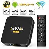 NinkBox Android TV Box 9.0, 【4G+64G】 N8 Plus TV Box Android, Bluetooth 4.0, TV...