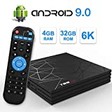Android TV Box,T95 MAX Android 9.0 TV Box 4GB RAM/32GB ROM H6 Quad-Core Soporte...
