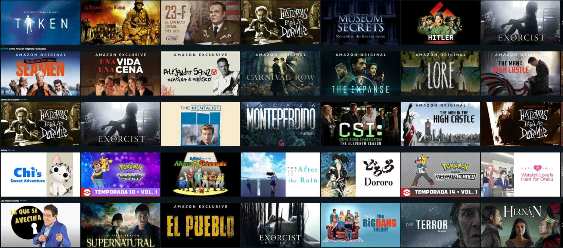 Series en Amazon Prime Video